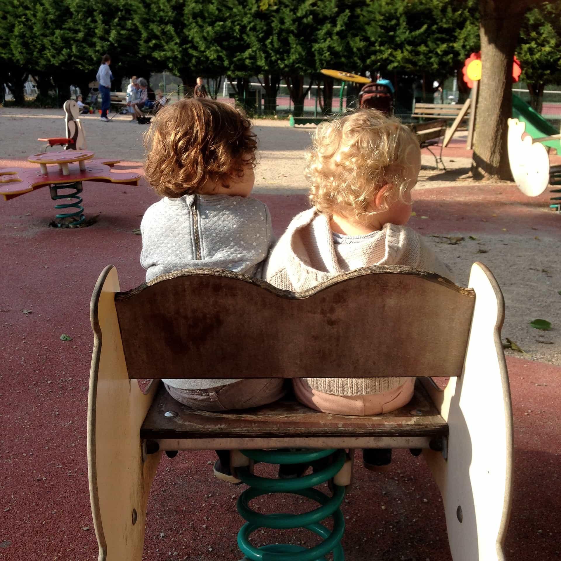 adopted children making friends